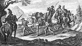 Rákóczi's War of Independence - Kuruc horsemen captured an Austrian soldier