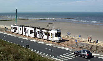 Coast Tram (Belgium) - The Belgian Coast Tram near Ostend