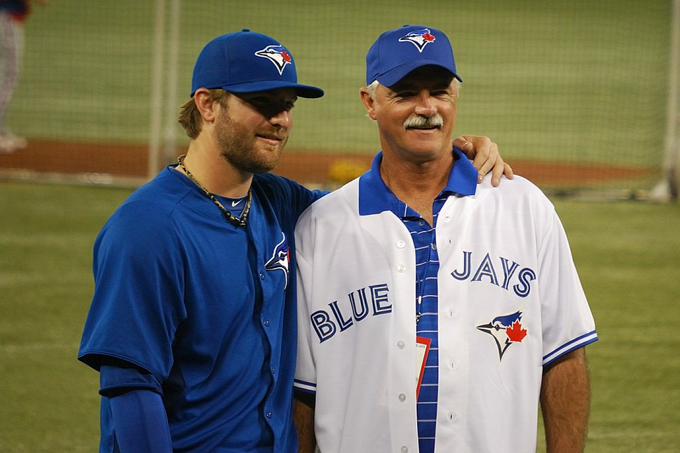 Kyle Drabek with his father Doug