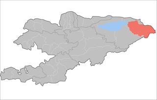 Ak-Suu District Raion in Issyk-Kul Region, Kyrgyzstan