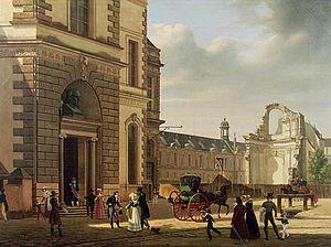 Étienne Bouhot - Image: L'Entrée Du Musée Du Louvre Et Les Ruines De L'Abside De Saint Louis Du Louvre
