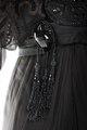 Långklänning av svart siden och tyll. Tillhört Irma von Geijer - Hallwylska museet - 89332.tif