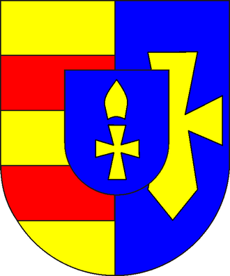 Bishopric of Lübeck - The coat-of-arms of the Principality of Lübeck as of 1829.