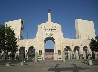 Soccer Bowl - Image: L.A. Memorial Coliseum Entrance