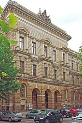 exterior of neo-classical institutional building