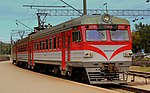 LITHUANIAN RAILWAYS EMU TRAIN BOUND FOR TRAKKAI AT VILLINUS RAILWAY STATION LITHUANIA SEP 2013 (9963272994).jpg