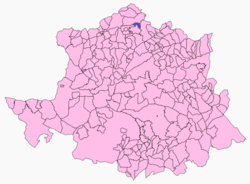 Location of La Pesga in Caceres Province