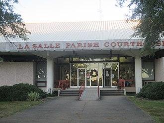 LaSalle Parish, Louisiana - Image: La Salle Parish, Louisiana Courthouse in Jena IMG 8360