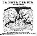 La nota del día. La comisión de la paz, de Apeles Mestres, La Publicidad, 04-10-1898 (noche).jpg
