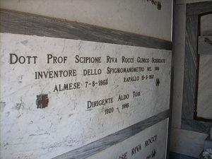 Scipione Riva-Rocci - The tomb of Riva-Rocci