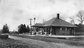 Millington station - Millington station in 1907