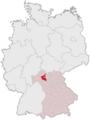 Lage des Landkreises Schweinfurt in Deutschland.png
