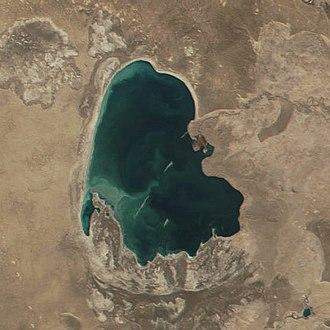 Sarygamysh Lake - December 2001