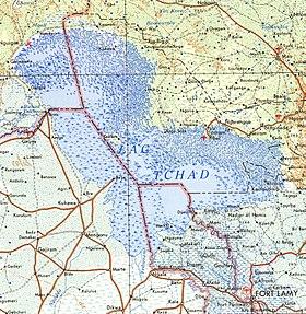 Mapa del lago en 1973