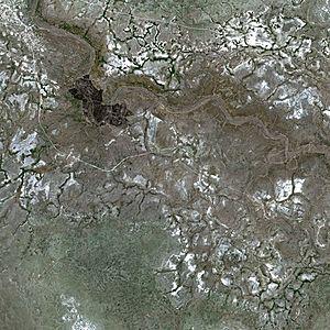 Lake Makgadikgadi - Lake Makgadikgadi by SPOT Satellite