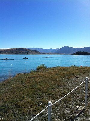 Lake Ruataniwha - Rowing on Lake Ruataniwha