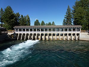 Truckee River - The headwaters of the Truckee River at Lake Tahoe Dam