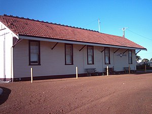 Lake Grace, Western Australia - Lake Grace train station.