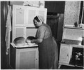 Lancaster County, Pennsylvania. This Church Amish housewife is engaged in the rapidly disappering p . . . - NARA - 521084.tif