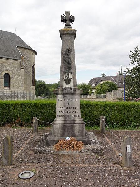 Landricourt (Aisne) monument aux morts