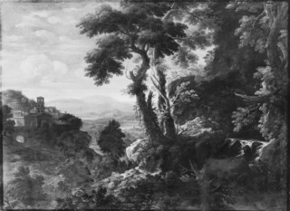 Landscape with a Waterfall and a Convent