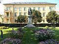 Large, resort building. Listed. Statue of Sándor Kisfaludy. - 3 Kisfaludy St, Balatonfüred.JPG