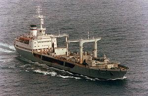 "Boris Chilikin-class fleet oiler - Image: Large ocean tanker ""Dnestr"" in 1993"