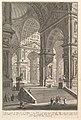 Large sculpture gallery built on arches and lit from above . . . (Galleria grande di Statue, la cui struttura è con Archi e col lume preso dall'alto . . . .) MET DP827988.jpg