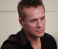 Larry Mullen, Jr. at the Barnes & Noble store in Union Square, New York City, 26 September 2006