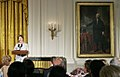 Laura Bush Global Cultural Initiative in the East Room 20060925.jpg