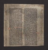 The single surviving page known as the Kringla leaf ( Kringlublaðið ...