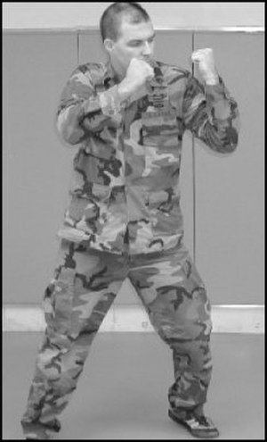 Punch (combat) - An American soldier demonstrating an uppercut