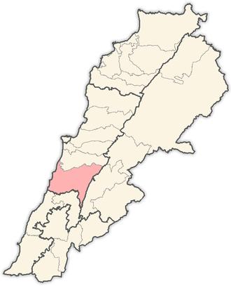 Chouf District - Image: Lebanon districts Chouf