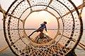Leg Rowing Fisherman Inle Lake Myanmar.jpg