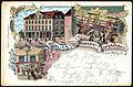 Leo Jansen PC Gruss vom Neustädter Gesellschaftshaus Bildseite Inhaber P. Schucht Lithografie ... Herzlich Ihre E. Koltge 1900.jpg