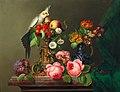 Leopold Brunner der Ältere - Stillleben mit Rosen, Früchten, Cockatiel und Hirschkäfer.jpg