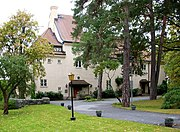 Villa Ekbacken, the private residence for the Dalén family, built in 1912 close to AGA production plant. Today the residence for Canada's ambassador in Sweden.