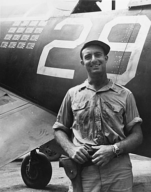 Ira C. Kepford - Lt. (jg) Ira C. Kepford in front of his F4U Corsair