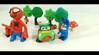 File:Lightning McQueen & Spiderman Friends Play Doh Stop Motion Video For Kids.webm