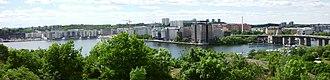 Hägersten-Liljeholmen - Panoramic view of Liljeholmen