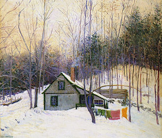 Hancock, New Hampshire - A Snowy Monday, 1926 (The Cooperage, Hancock, New Hampshire) by Lilla Cabot Perry