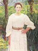Lilla Cabot Perry (1848-1933) - By the Brook, Giverny, France (1909).jpg