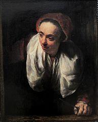 Femme âgée à sa fenêtre