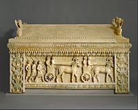 Limestone sarcophagus- the Amathus sarcophagus MET DT352.jpg