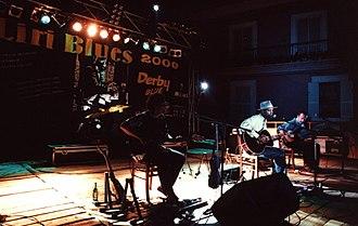 Eric Bibb - Eric Bibb at the Liri Blues Festival, Italy, in 2000