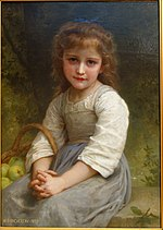Little Girl with a Basket of Apples by William-Adolphe Bouguereau, 1897, oil on canvas - Chazen Museum of Art - DSC02269.JPG