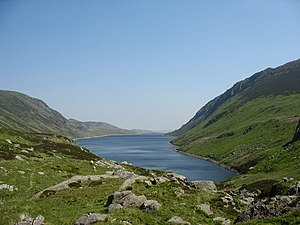 Llyn Cowlyd - View looking north-east down the length of the lake