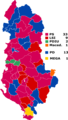 Local elections in Albania (2015) by supportive party of winning candidate.png