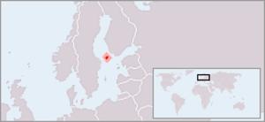 Swedish neutrality - Image: Location Aland