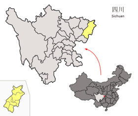 Location of Dazhou Prefecture within Sichuan (China).png